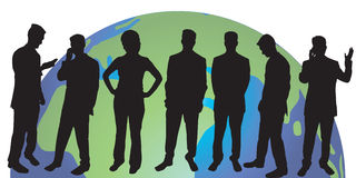 Business people silhouettes. A group of business people silhouettes - additional ai and eps format available on request Stock Photo