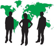 Business people silhouettes. A group of business people silhouettes - additional ai and eps format available on request Stock Photography