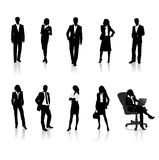 Business people silhouettes Stock Photos