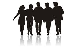 Business people silhouettes Royalty Free Stock Photos