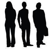 Business people silhouettes Stock Photography