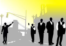 Business people  silhouettes Royalty Free Stock Photography