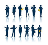 Business people silhouettes stock image