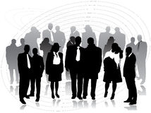 Business people silhouettes Royalty Free Stock Images