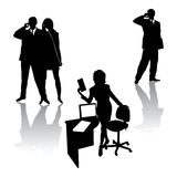 Business people silhouettes. Business people group in black silhouettes.Vector illustration Royalty Free Stock Photo