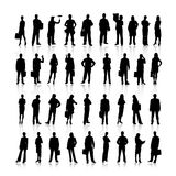 Business people silhouettes Royalty Free Stock Photo