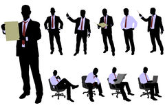 Business people silhouettes Stock Photo