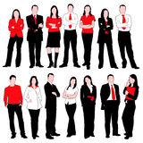 Business People Silhouettes Set Royalty Free Stock Image