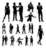 Business People Silhouettes. A set of very high quality business people silhouettes Royalty Free Stock Images
