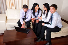 Business  people sitting on couch Royalty Free Stock Image