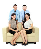 Business people sitting on the couch Stock Photography