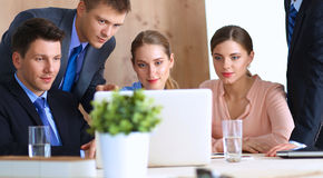 Business people sitting and discussing at business Royalty Free Stock Photo