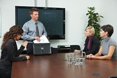 Business people sitting on meeting Stock Photos