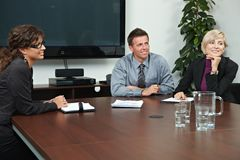 Business people sitting on meeting Royalty Free Stock Photography