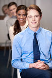 Business people sitting in meeting room Royalty Free Stock Photo