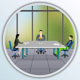 Business people sitting at the negotiating table Royalty Free Stock Photo