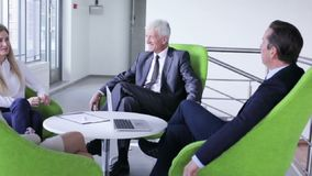 Business people having discussion stock footage
