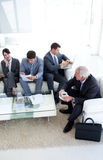Business people sitting and waiting for a job inte Stock Photos