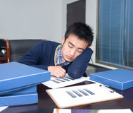 Business people sleep pressure Stock Photo