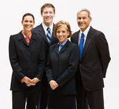 Business people smiling. Group portrait of a business team Stock Image