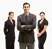 Business people smiling. Three business people smiling at the camera Stock Photography