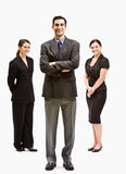 Business people smiling. Three business people smiling at the camera Stock Image