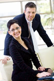 business people smiling Στοκ εικόνα με δικαίωμα ελεύθερης χρήσης