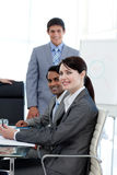 Business people smiling at the camera Stock Photography