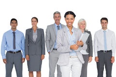 Business people smiling at camera Stock Image