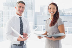 Business people smiling and talking Royalty Free Stock Photo