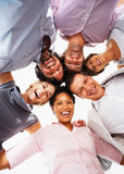 Business people smiling together Royalty Free Stock Photo