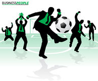 Business People in Soccer Success Royalty Free Stock Images