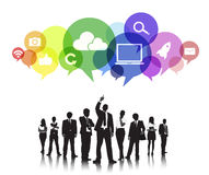 Business People Social Media Communication Concept Stock Image