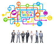 Business People and Social Media Concepts Stock Image