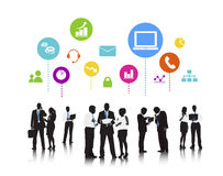 Business People Social Media Technology Discussion Concept Royalty Free Stock Photography