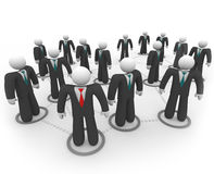 Business People in Social Network. A social network of business people in suits and ties Royalty Free Stock Photo