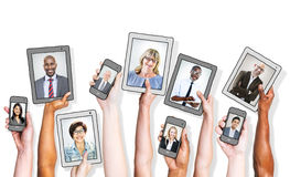 Business People and Social Networking Concepts.  Royalty Free Stock Photo