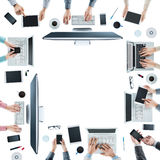 Business people social networking Royalty Free Stock Image