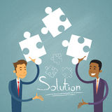 Business People Solution Solve Puzzle Two Royalty Free Stock Photos
