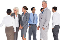 Business people speaking together Royalty Free Stock Photo