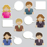 Business people speech Royalty Free Stock Photo