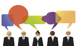 Business people with speech balloons Stock Photography