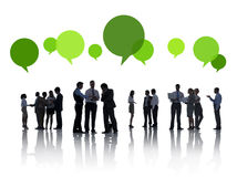 Business People and Speech Bubbles Stock Images