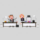 Business people spending time at office.3D Royalty Free Stock Photography