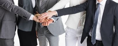 Business people stacking hands Royalty Free Stock Photo