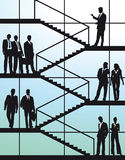 Business people on stairs  Royalty Free Stock Image