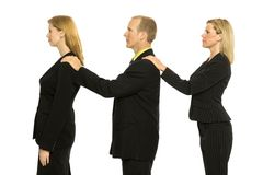 Business people stand together. Three business people stand together Stock Image