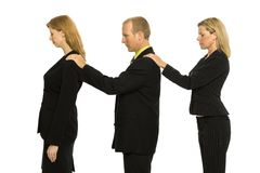 Business people stand together stock photography