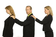Business people stand together. Three business people stand together Stock Images