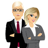 Business people standing with arms folded Stock Photography